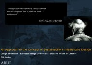 An Approach to the Concept of Sustainability in Healthcare Design