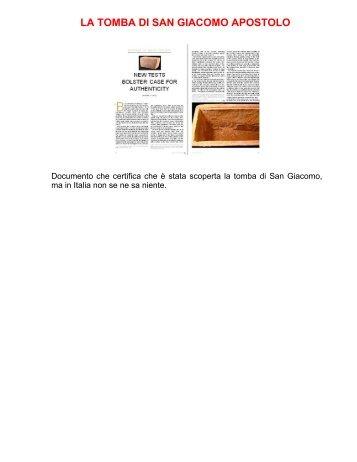 LA TOMBA DI SAN GIACOMO APOSTOLO - Branham.it