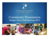 Budget Town Hall Meeting 2013 - Pasco County Schools