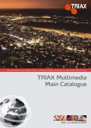 TRIAX Multimedia Main Catalogue