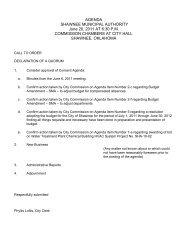 Full PDF Packet Here - City of Shawnee Oklahoma