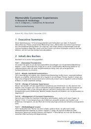 Buchzusammenfassung - Customer Experiences That Matter ...