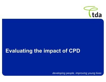 Evaluating the impact of CPD