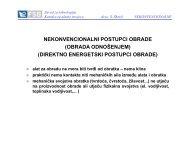 NEKONVENCIONALNI POSTUPCI OBRADE (OBRADA ... - FSB