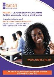 events programme flyer (PDF 352KB) - Raincharm