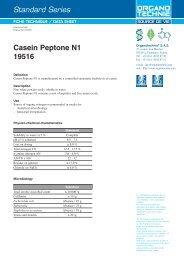 Standard Series Casein Peptone N1 19516 - TekniScience.com