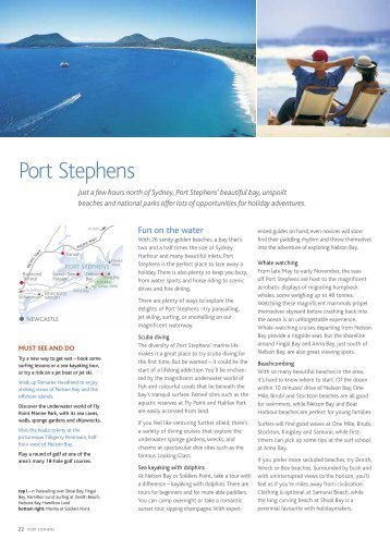 Port Stephens - Sydney's official guide to events, accommodation ...