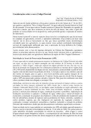 Considerações sobre o novo Código Florestal - Embrapa Suínos e ...
