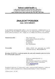 ZNALECKÝ POSUDEK číslo: 3419-1299/2011 - OKdrazby.cz