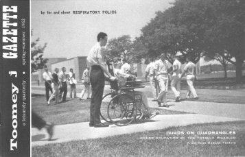 Toomey J Gazette (Vol. 5, No. 1, Spring-Summer 1962) - Polio Place