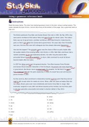 Using a grammar reference book Grammar - Clarity English ...