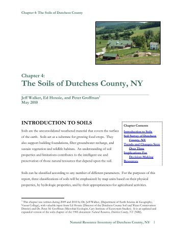 Chapter 4: The Soils of Dutchess County, NY