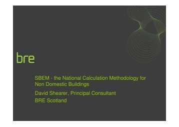SBEM - Scottish Energy Systems Group