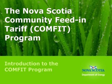 COMFIT - Government of Nova Scotia