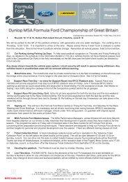 FCB07 pre-OP FF Championship Information - British Formula Ford