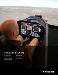 Simulation Solutions Brochure - Christie Digital Systems