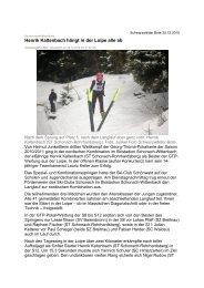 Henrik Kaltenbach hängt in der Loipe alle ab - Skiclub Hinterzarten