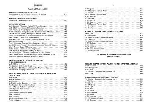 Volume 2 Kwazulu Natal Legislature