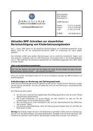Aktuelles BMF-Schreiben zur steuerlichen Berücksichtigung von ...