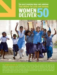 The WOMEN DELIVER 50 celebrates the most inspiring ... - m4RH