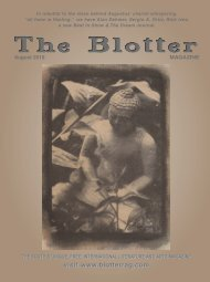 August - The Blotter