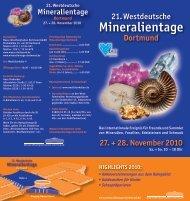 Mineralientage - Geopark Ruhrgebiet