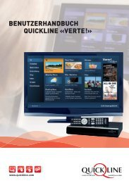 Benutzerhandbuch Quickline «verte!» - Flimscom