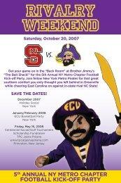 5th Annual New York Metro Football Kickoff Party - East Carolina ...