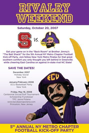 5th Annual New York Metro Football Kickoff Party - East Carolina ...