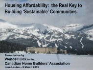Housing Affordability: the Real Key to Building - Canadian Home ...