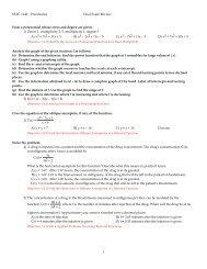 MAC 1140 Precalculus Final Exam Review Form a polynomial ...