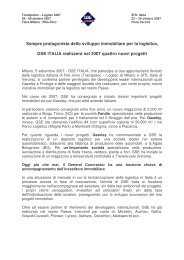 Draft communicato stampa GSE Italia