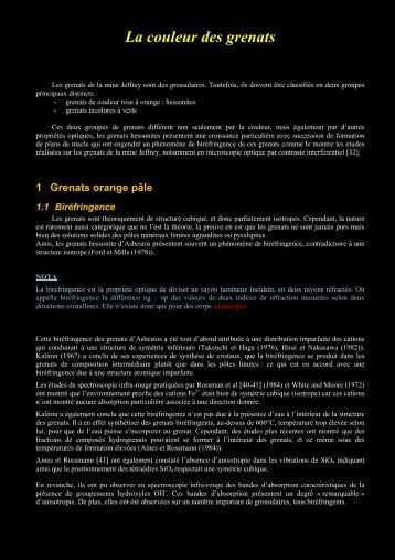 asbestos pour site - Page perso minéraux Alain ABREAL : grenats