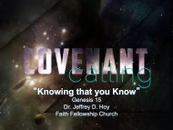 """Knowing that you Know"" - Faith Fellowship Church"