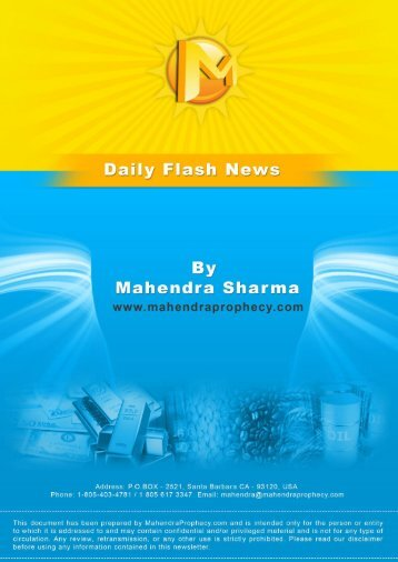 www.mahendraprophecy.com Daily Flash News - Prophesies of ...