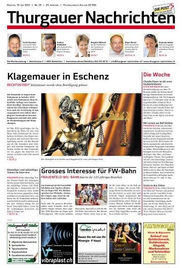 Klagemauer in Eschenz - Aktuelle Ausgabe