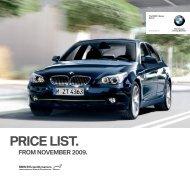 PRICE LIST. - BMW Ireland
