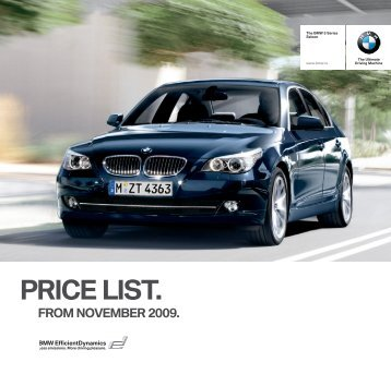 PRICE LIST. - BMW Ireland