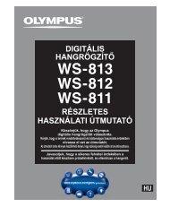 részletes használati útmutató digitális hangrögzítő - Olympus