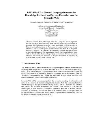 BEE-SMART - UMKC School of Computing and Engineering