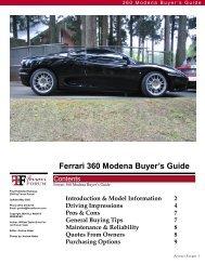 360 Buyers Guide - Ferrari Owners Club Florida Region