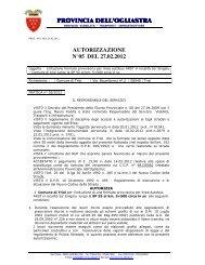 AUTORIZZAZIONE N 05 2012.pdf - Provincia dell'Ogliastra