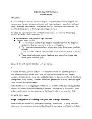 Stage 1: Assignment 1--Selecting a Chapter and ... - with david jones