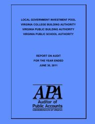 Local Government Investment Pool, Virginia College Building ...