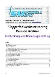 SM Anleitung Klapptriebwerkssteuerung Köllner 2.00 - SM-Modellbau
