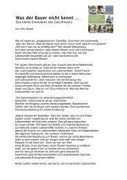 Leseprobe Otto Geisel: Was der Bauer nicht kennt...