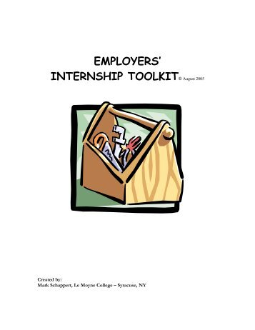 Employers' Internship Toolkit (pdf) - Le Moyne College
