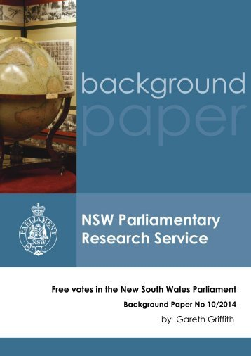 Free votes in the New South Wales Parliament