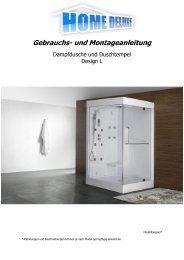 Gebrauchs- und Montageanleitung - Home Deluxe GmbH