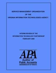 Service Management Organization of the Virginia Information ...
